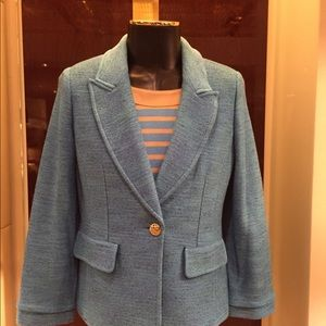 New St. John Turquoise Multi Jacket size 12